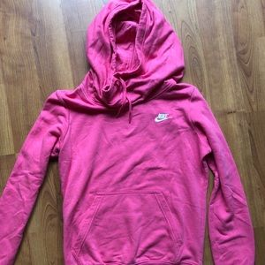 Nike women's funnel neck hoodie SMALL